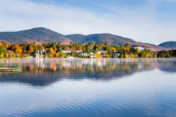 Schönen Lake Placid im Herbst – Foto