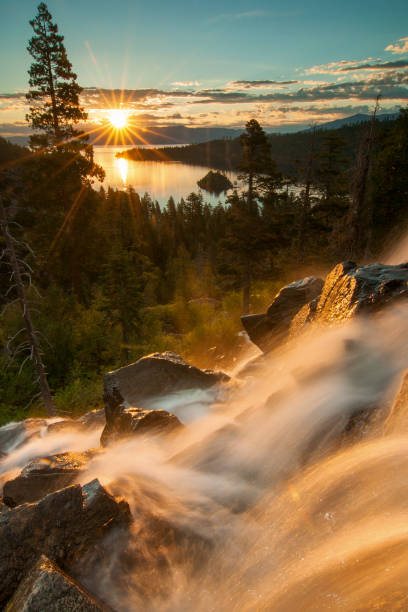 Beautiful Lake Tahoe California stock photo