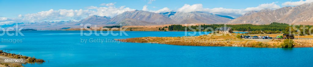 Beautiful Lake Tekapo, NewZealand stock photo