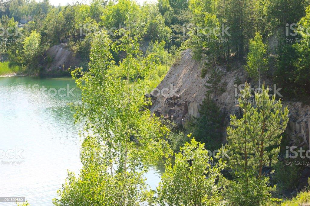 beautiful lake view royalty-free stock photo