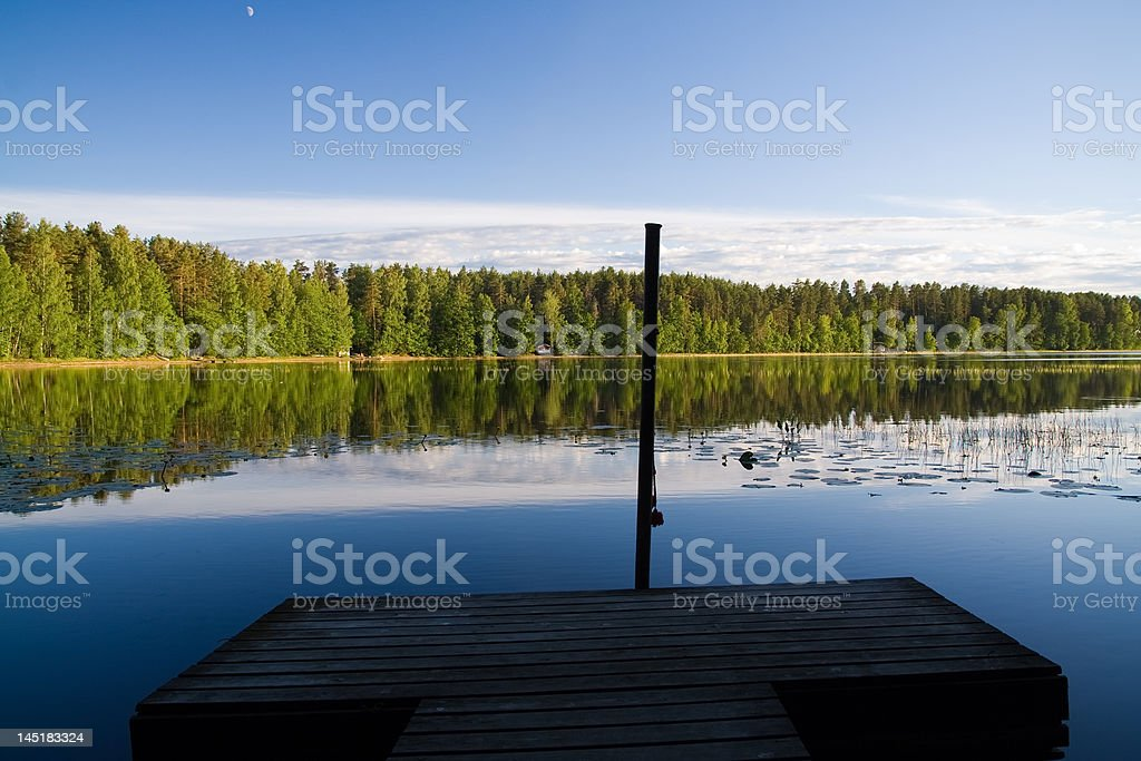 Beautiful lakeview stock photo
