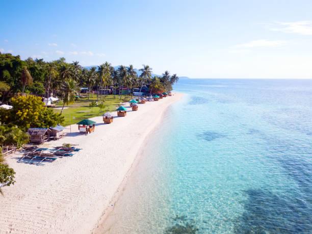 Beautiful Lambug beach stock photo