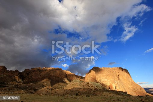 Beautiful landscape at Piedra Parada, Chubut valley, along route 12, Chubut Argentina