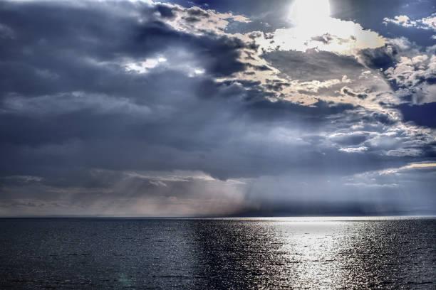 아름 다운 풍경, 비 대기 사진 스톡 사진