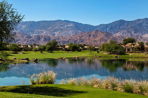 A beautiful landscape feel of a retirement community stock photo
