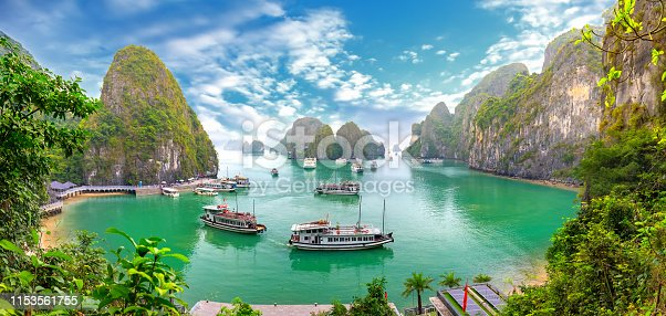 istock Beautiful landscape Halong Bay view from adove the Bo Hon Island. Halong Bay, Vietnam 1153561755