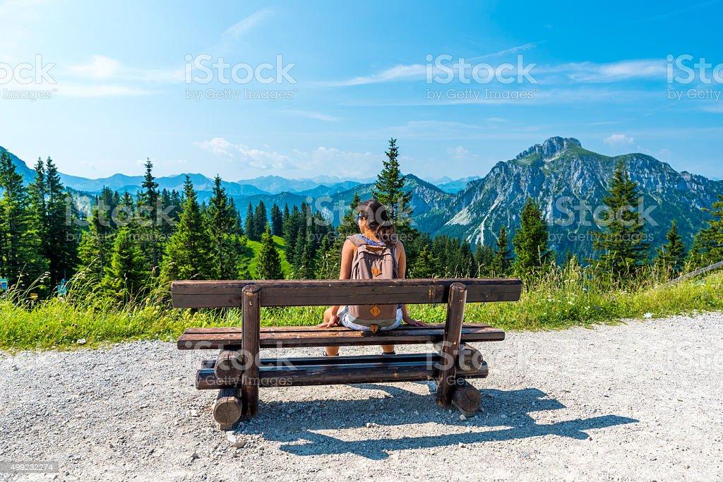 Beautiful Landscape in Allgäu -  Alps, Tegelberg stock photo