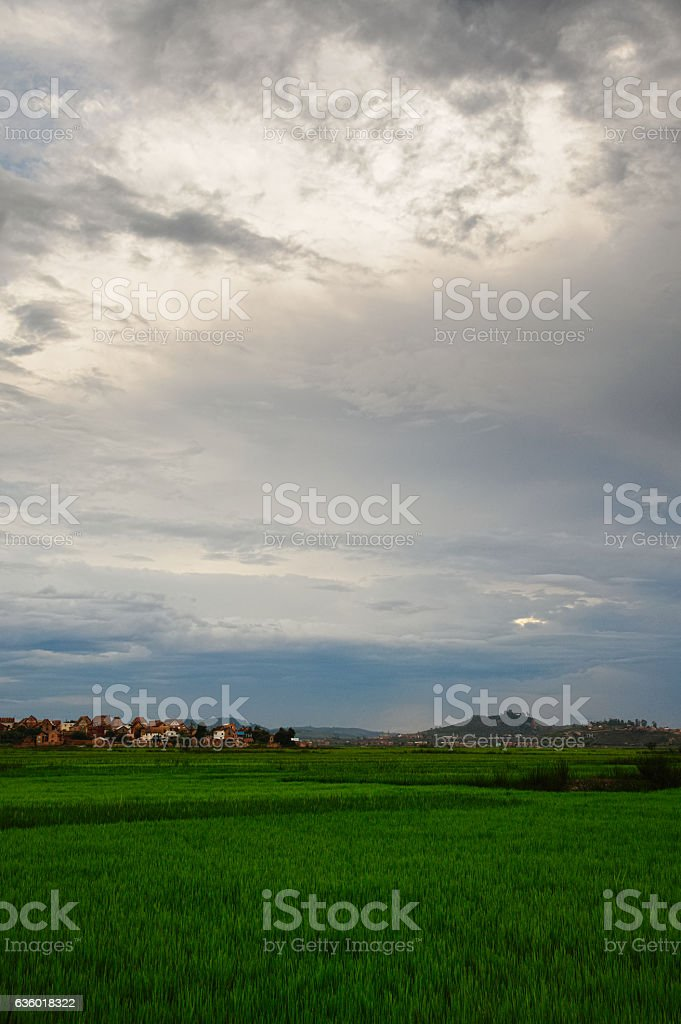 beautiful landscape in Antananarivo, central Madagascar stock photo