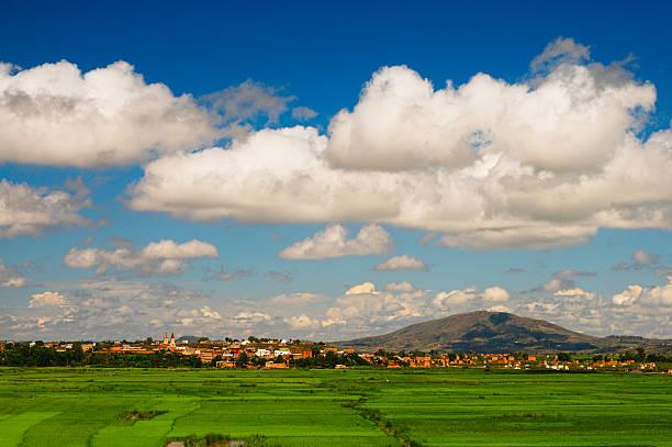 beautiful landscape in Antananarivo, central Madagascar stock photo