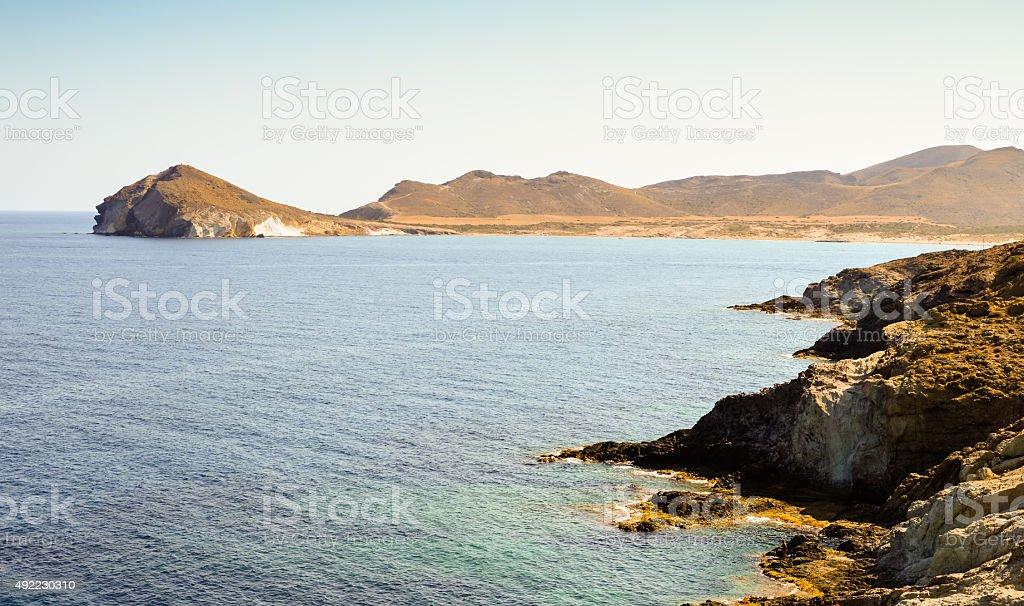 Beautiful landscape in Cabo de Gata Natural Park stock photo