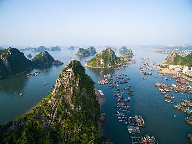 Beautiful landscape in Halong bay, Vietnam Beautiful landscape in Halong bay, Vietnam hanoi stock pictures, royalty-free photos & images