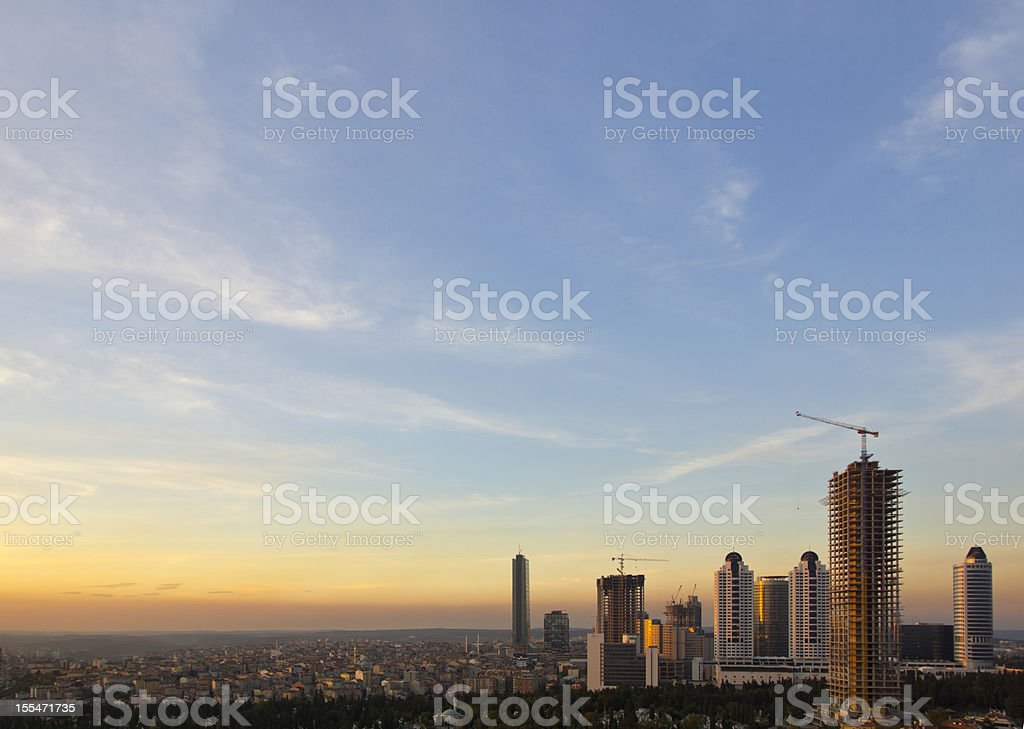 Beautiful landscape in Istanbul royalty-free stock photo