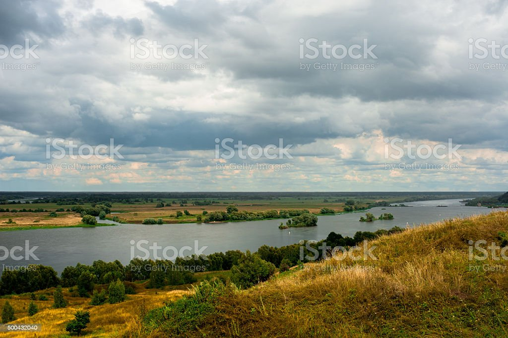 Beautiful landscape in Konstantinovo, Russia - the birthplace of russian stock photo