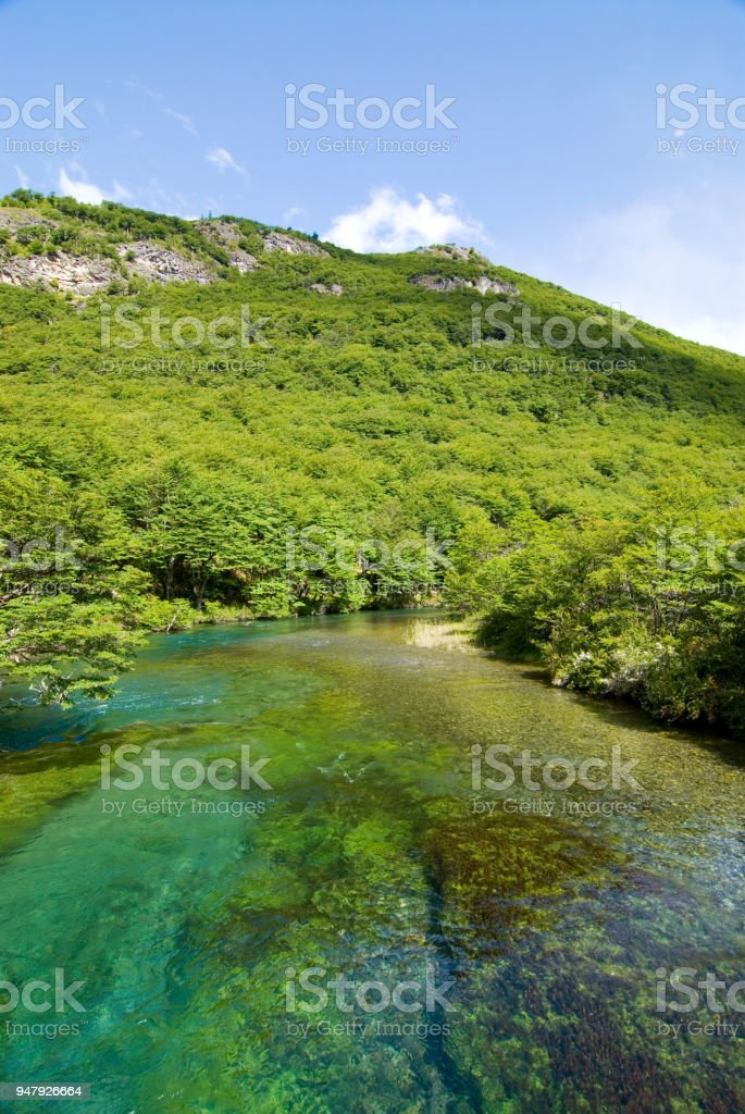 beautiful landscape in patagonia stock photo