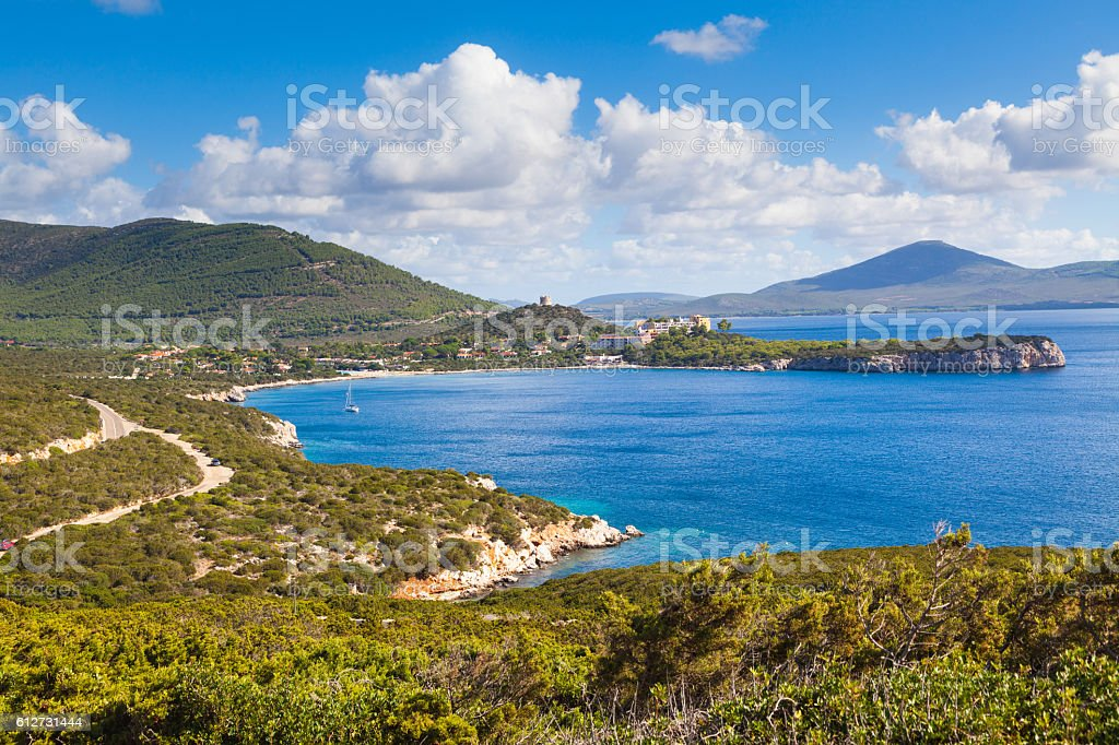 Beautiful landscape in province of Sassari, Sardinia stock photo