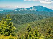 Beautiful landscape in the Bucegi Mountain part of the Carpathian Mountains of Romania.