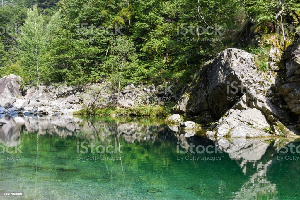 Beautiful Landscape in the Maggia valley stock photo
