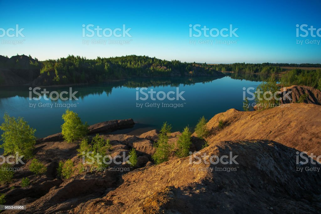 Beautiful landscape in the morning royalty-free stock photo