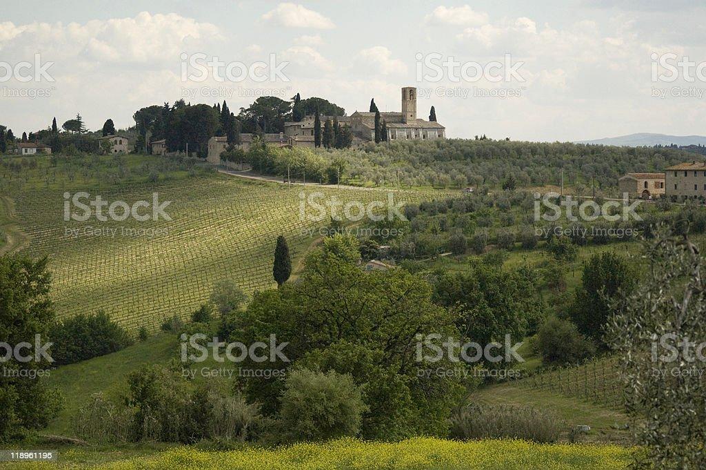 Beautiful landscape in tuscany stock photo