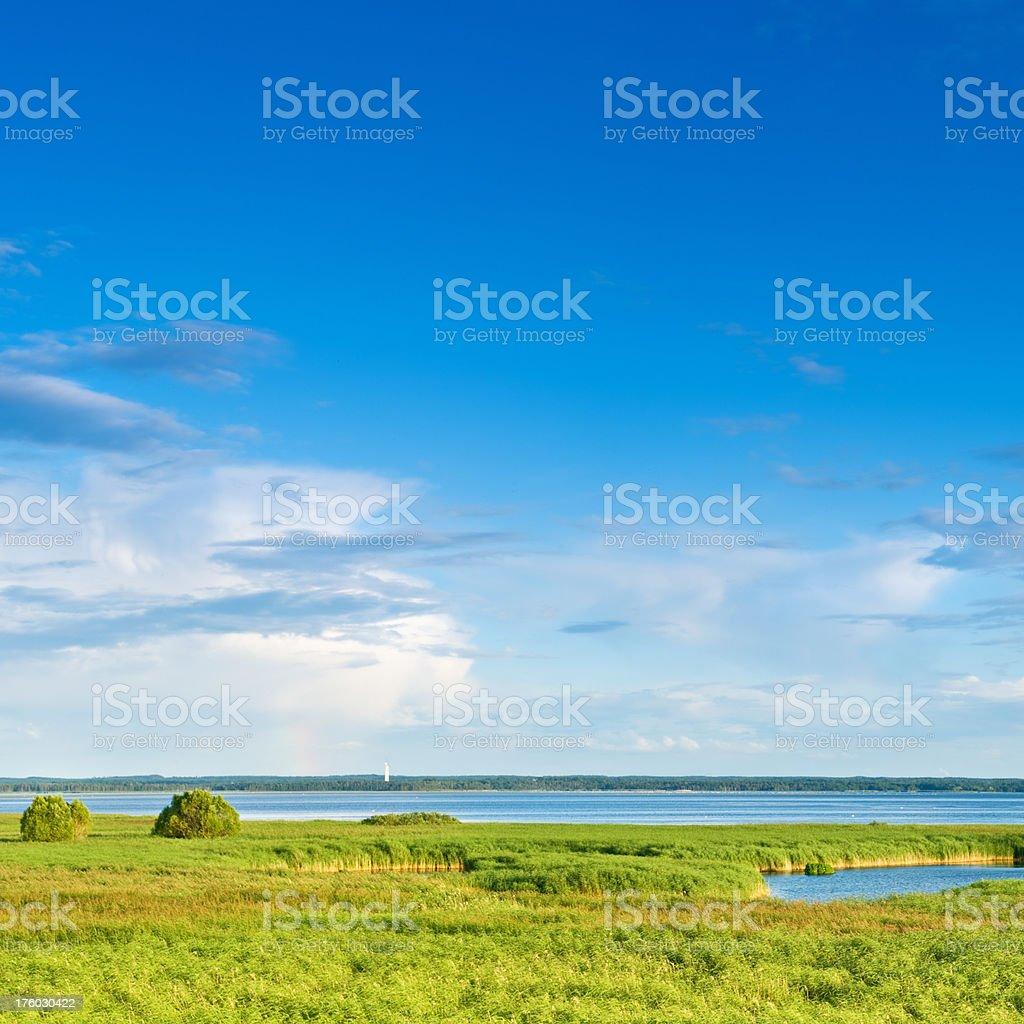 Beautiful landscape - Lake Tåkern, Sweden royalty-free stock photo