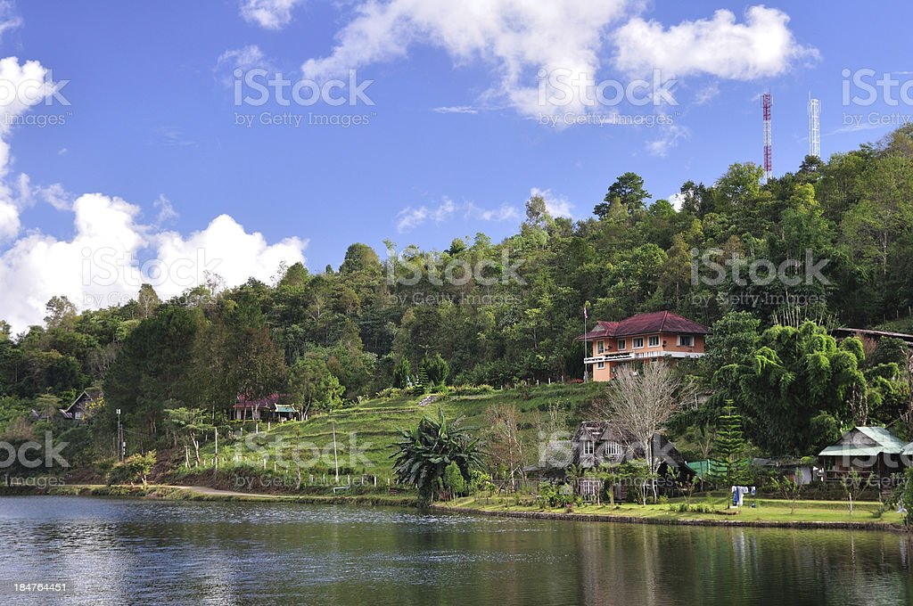 Beautiful landscape, modern building north of Thailand. royalty-free stock photo