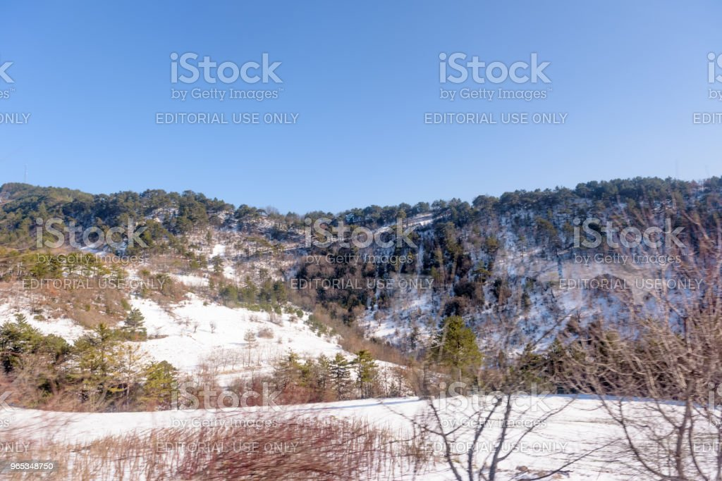 Beautiful landscape mountain view of Cold scenery zbiór zdjęć royalty-free