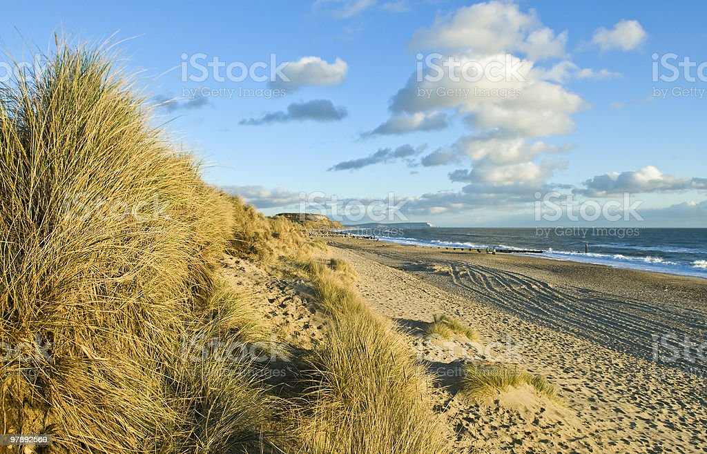 beautiful landscape of a dorset beach royalty-free stock photo