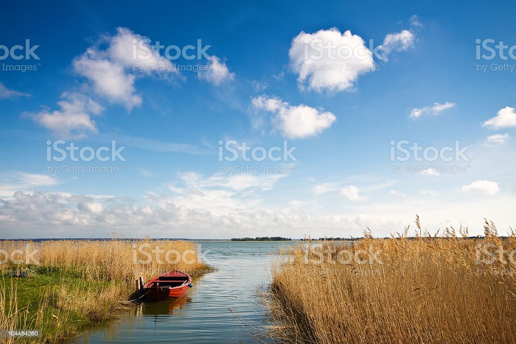 A beautiful landscape of a rivers end stock photo