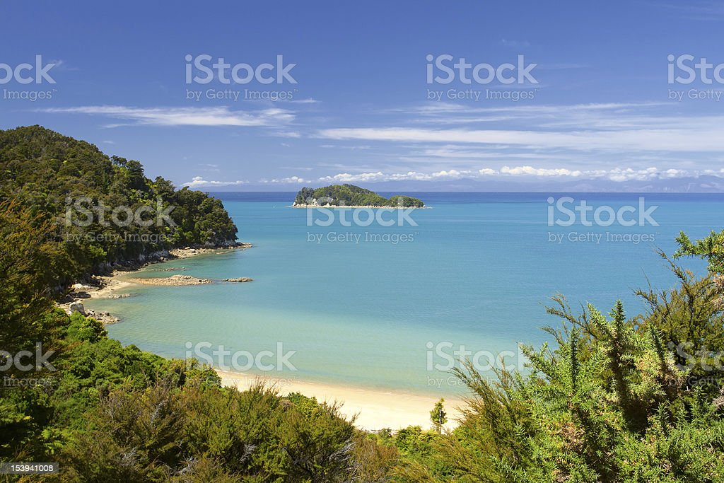 Beautiful landscape of Abel Tasman National Park stock photo