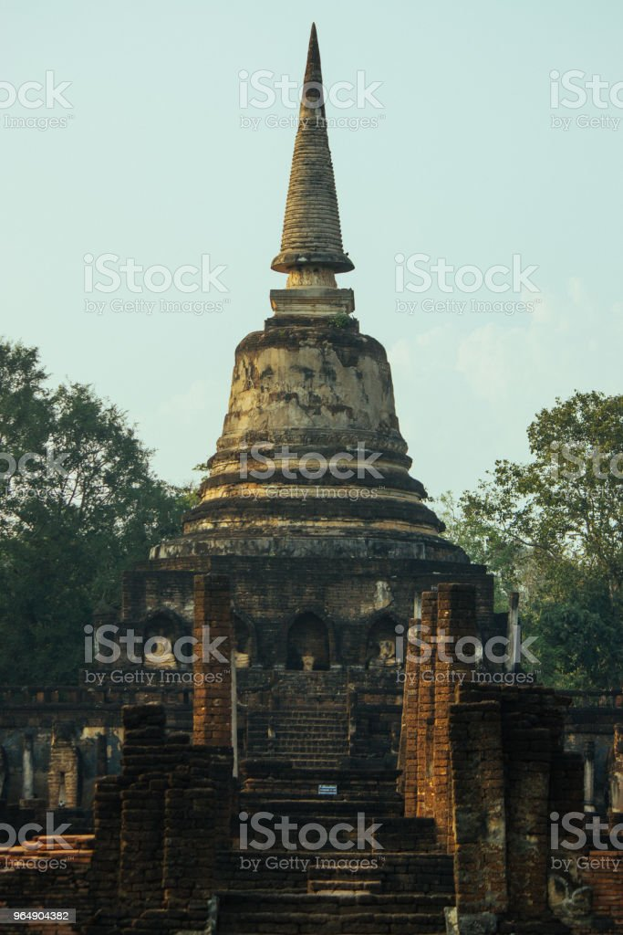 Beautiful landscape of ancient  temple in sisatchanalai heritage ,Sukhothai, Thailand royalty-free stock photo