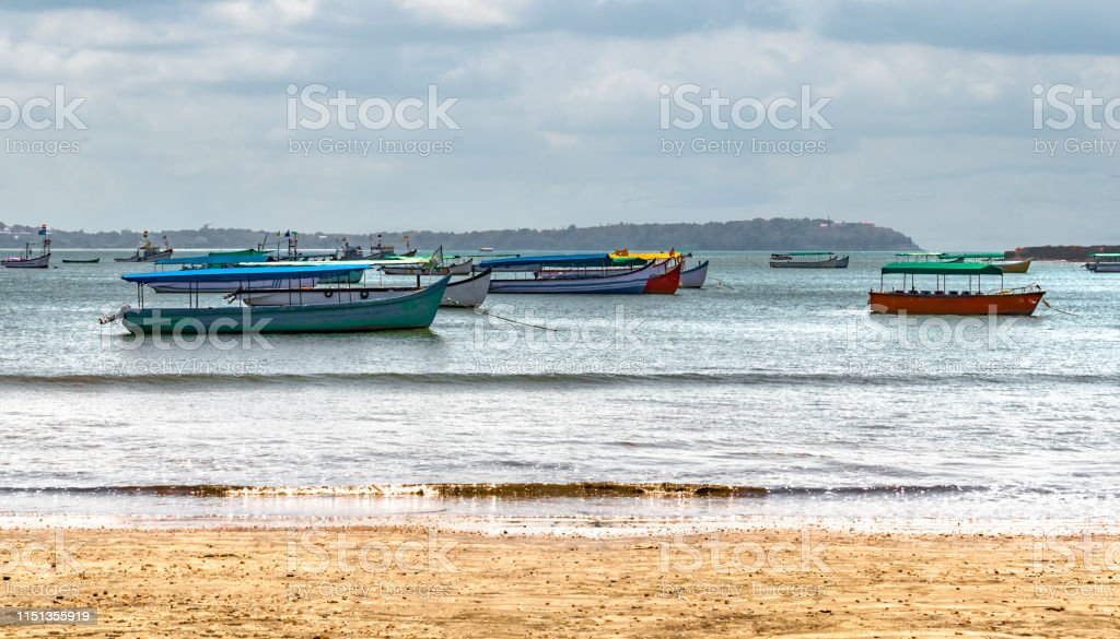 Beautiful Landscape of Coastal region comprising Calm sea and...