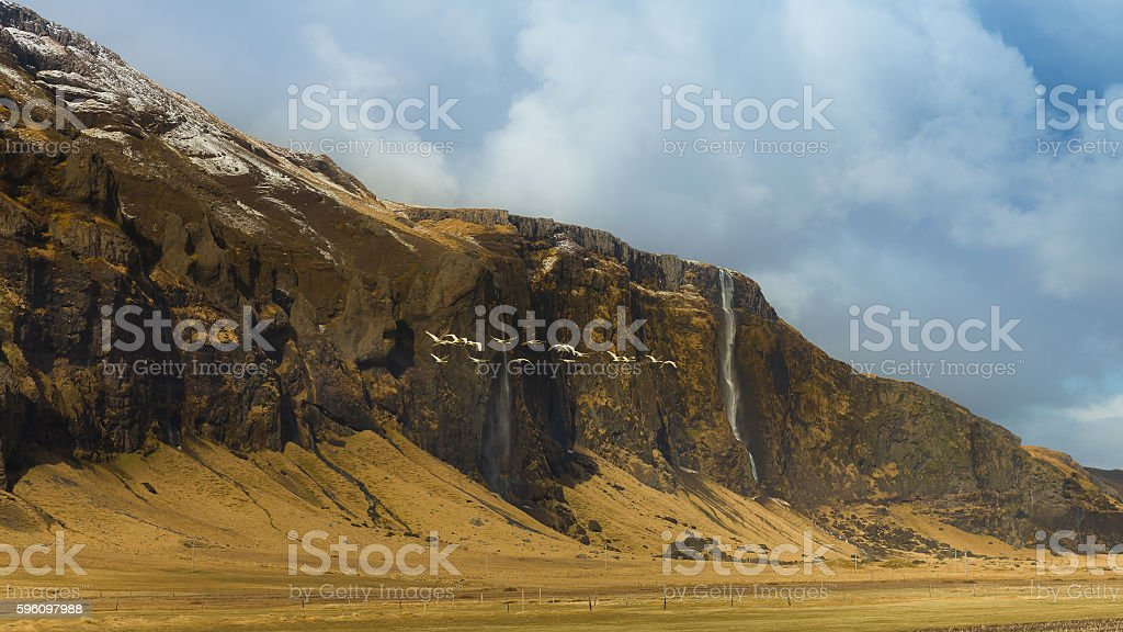 Beautiful Landscape of Icelandic mountain with snow covered royalty-free stock photo