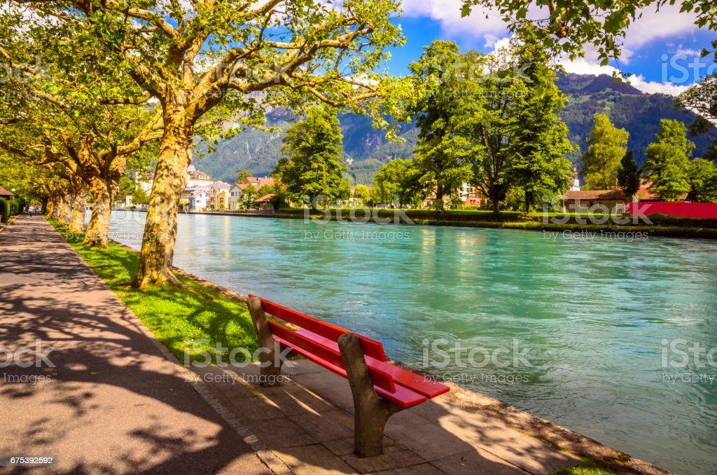 Beau paysage d'Interlaken, Suisse photo libre de droits