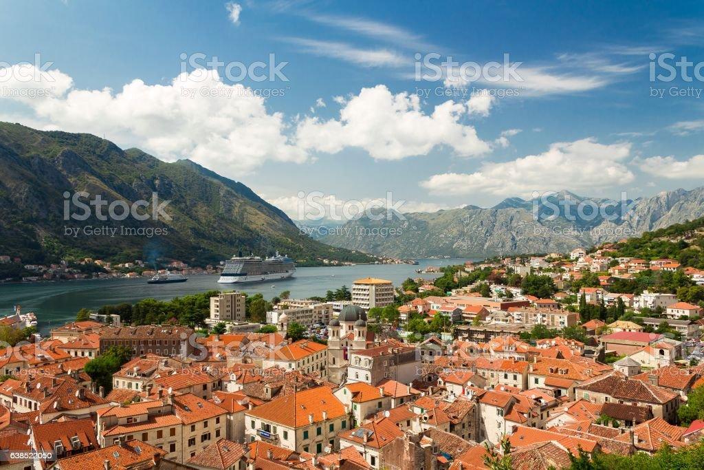 Beautiful landscape of Kotor Bay, Montenegro, Adriatic sea – zdjęcie