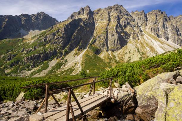 mengusovska 돌리 나의 아름 다운 풍경입니다. 높은 타트라 (tatra) 산. 슬로바키아. - 카르파티아 산맥 뉴스 사진 이미지