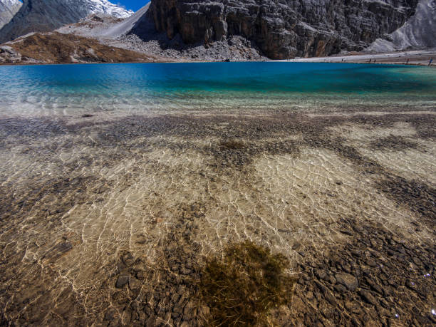 beautiful  landscape of milky sea in daocheng yading national park, sichuan, china. - nature reserve stock photos and pictures
