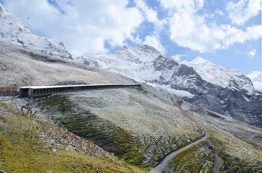 Beautiful Landscape of Mountain in early autumn,  Switzerland