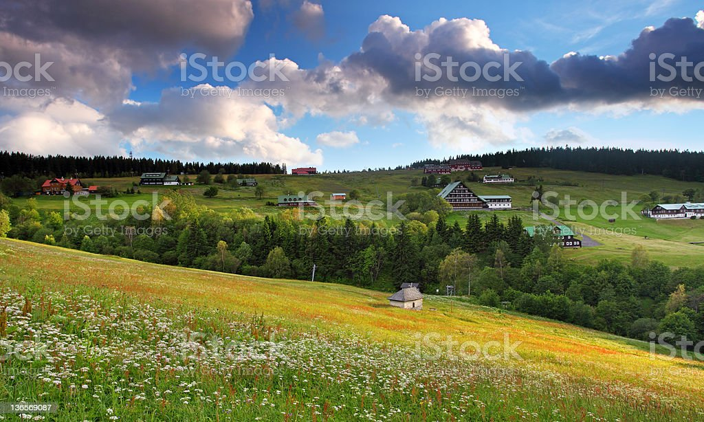 Beautiful landscape of mountain Krkonose royalty-free stock photo