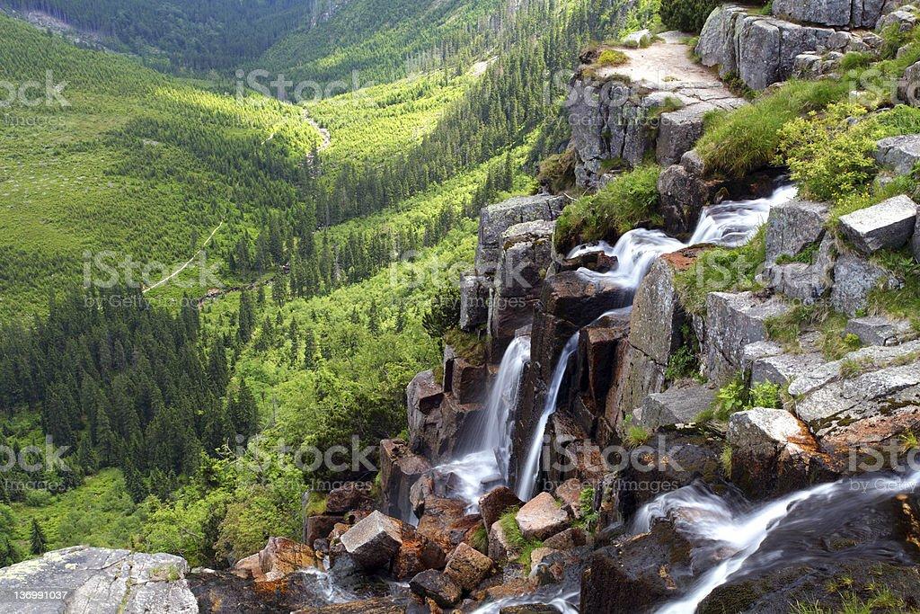 Beautiful landscape of mountain Krkonose stock photo