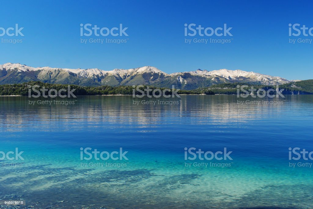 Beautiful landscape of Nahuel Huapi lake, in Villa la Angostura, Patagonia Argentina stock photo