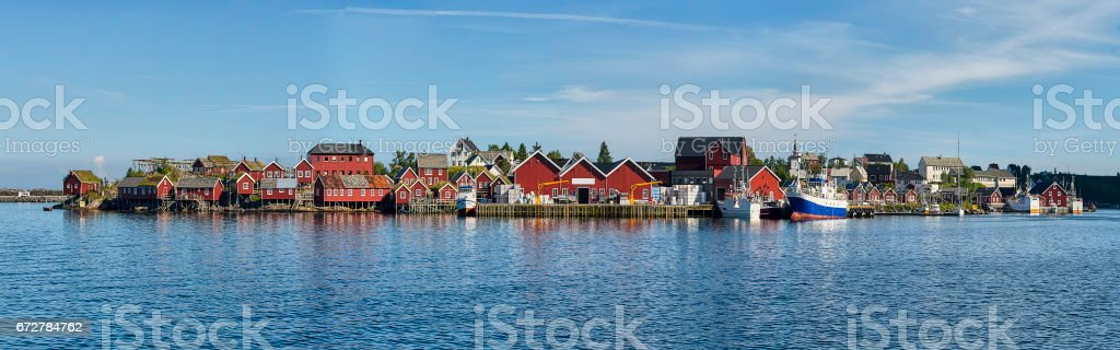 Beautiful landscape of Norway, Reine, Scandinavia stock photo