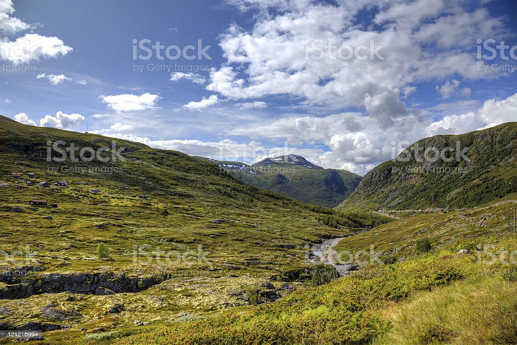 Beautiful landscape of norwegian mountains. royalty-free stock photo