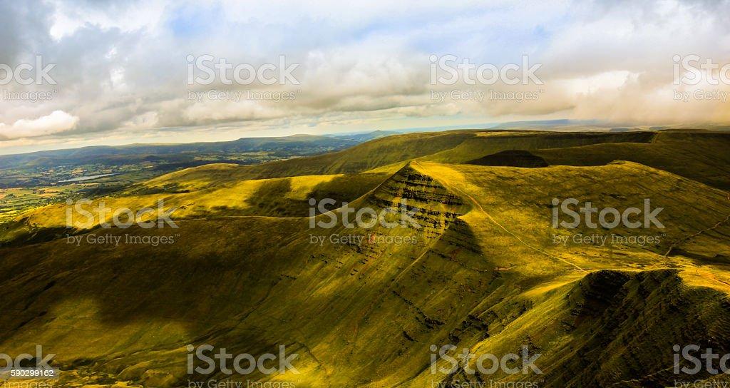 Beautiful landscape of Pen y Fan royaltyfri bildbanksbilder