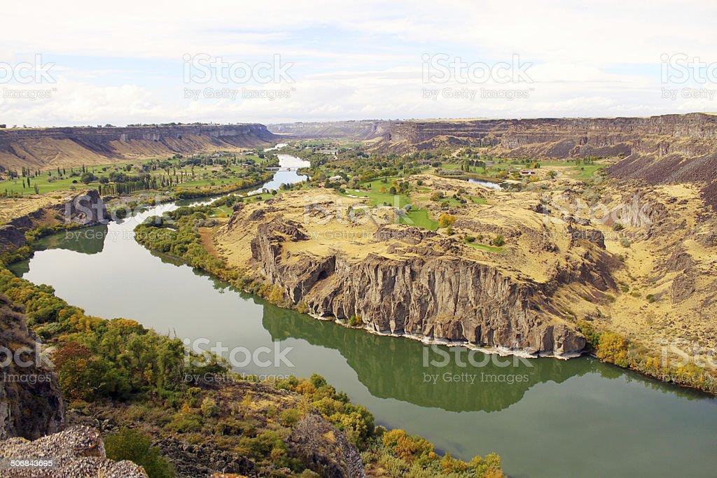 Beautiful Landscape of Snake River Canyon, Idaho, USA stock photo