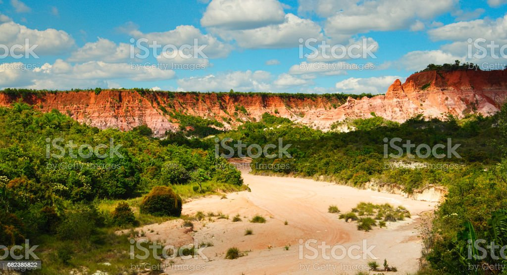 Beautiful landscape of the cirque rouge canyon in Mahajanga, Madagascar royalty-free stock photo
