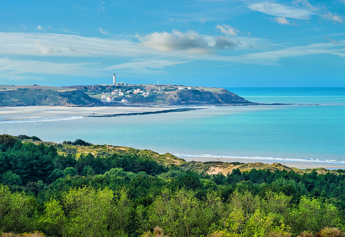 Beautiful landscape of the coast in the north of France