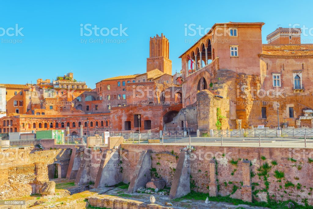 Beautiful landscape of the  in Rome- one of the oldest and most beautiful cities in the world. stock photo