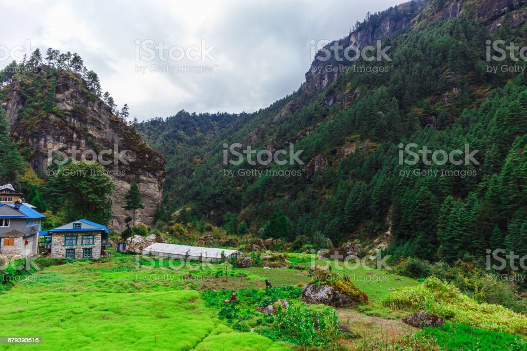 Beautiful landscape of the mountains royalty-free stock photo