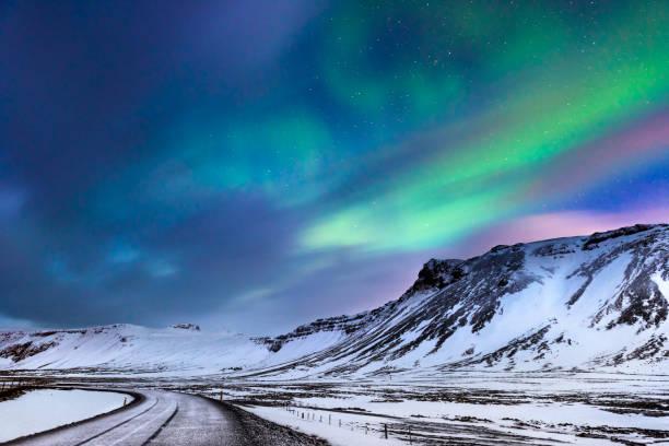 Schöne Landschaft der Northern lights – Foto