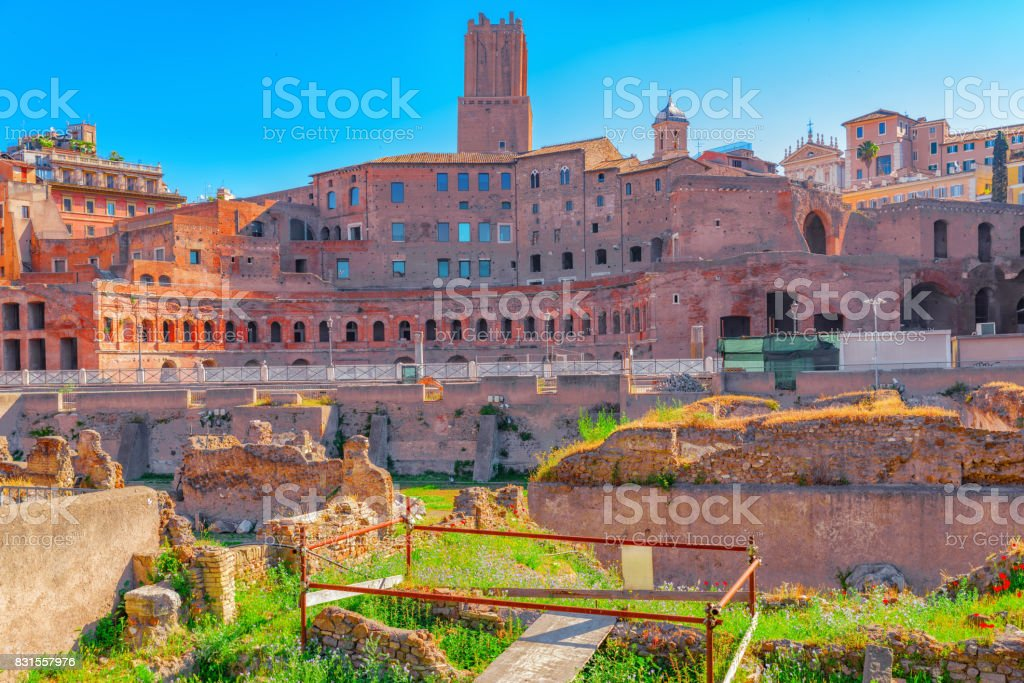 Beautiful landscape of the Rome- one of the oldest and most beautiful cities in the world. stock photo